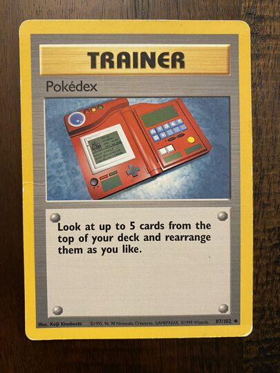 Vintage Pokemon Trainer Cards Collection Image