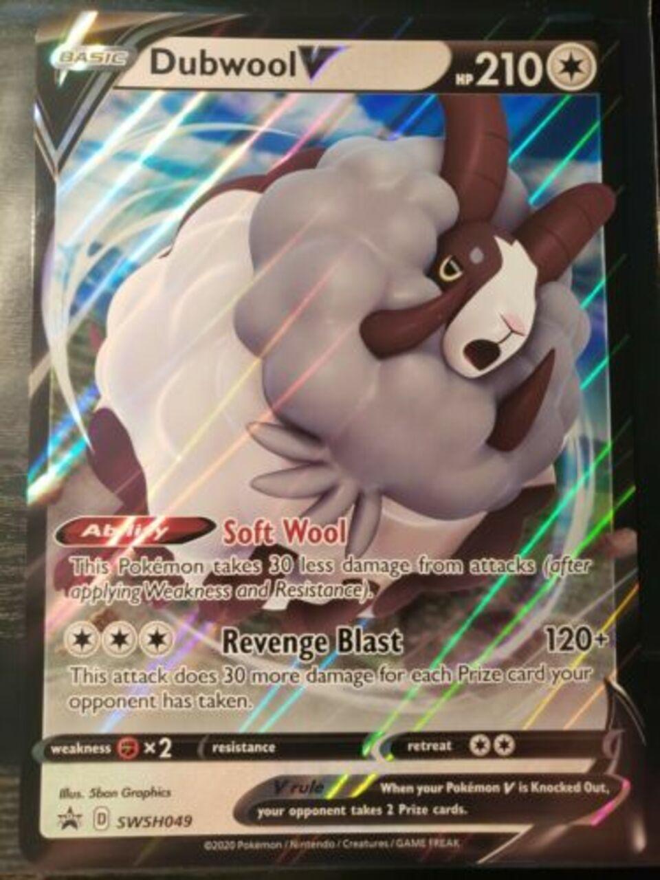 Ultra Rare Holo Pokemon Dubwool V