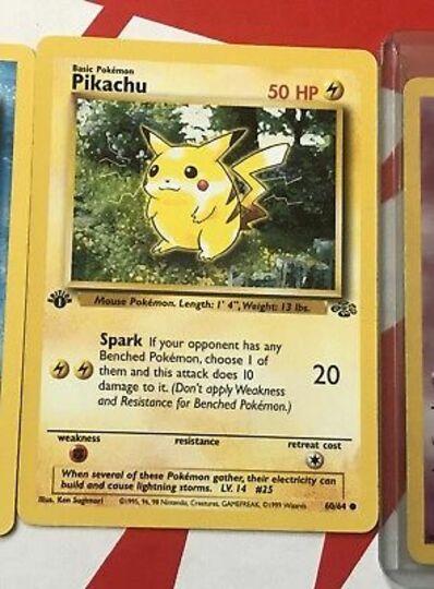 Pokemon 1st Edition Jungle Set Pikachu 60/64