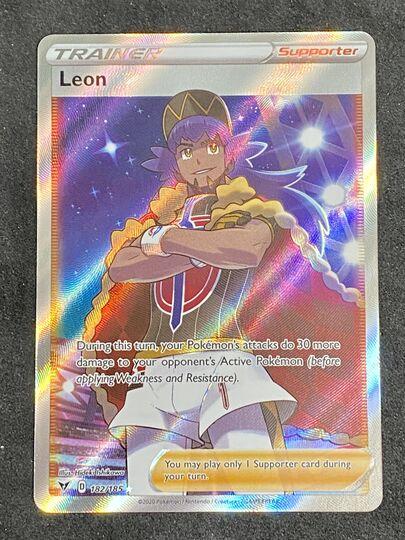 Pokemon Leon Full Art Trainer Vivid Voltage Pikachu 182//185 Holo Rare