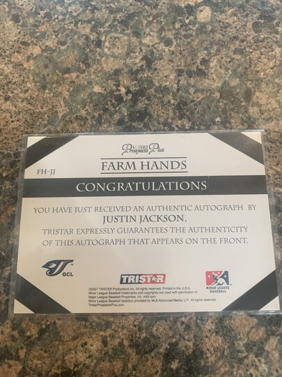 Mavin | Justin Jackson Farm Hands 2007 Prospects Plus