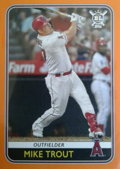2020 Topps Big League Mike Trout #68 Orange