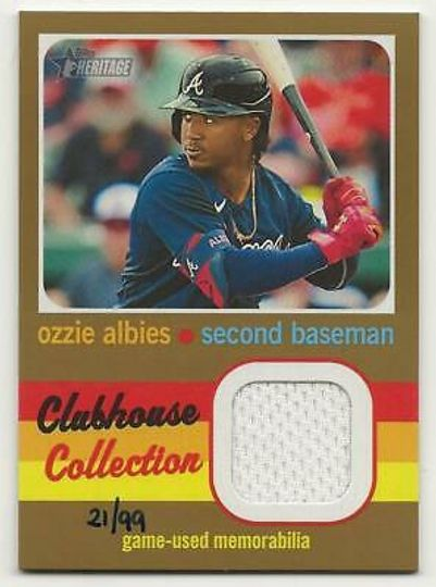 Albies, Ozzie 2020 Heritage High Gold Relic