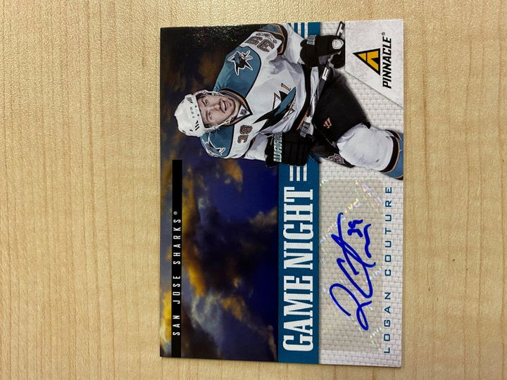 VERY RARE!! 2011 Panini Game Night Autographed card, number 31, Logan Couture