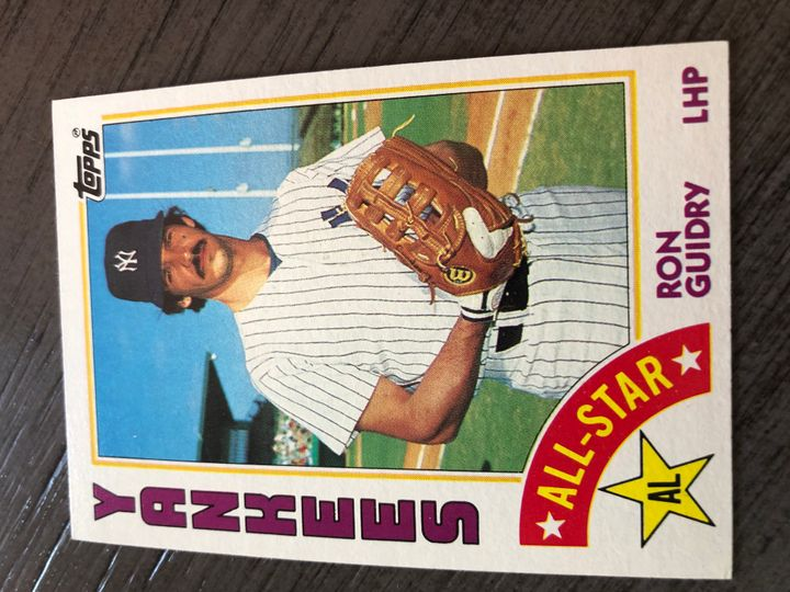1984 TOPPS RON GUIDRY 406