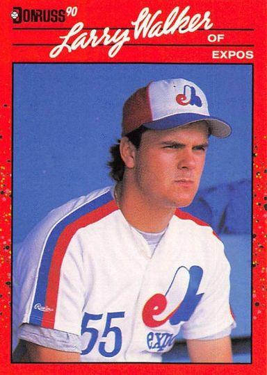 1990 Donruss Larry Walker #578 Rookie