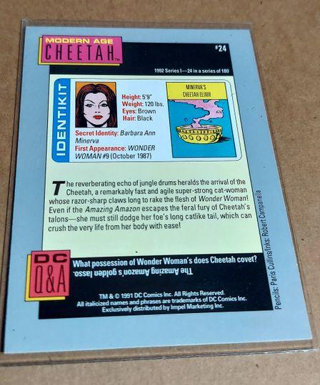 DC COSMIC CARDS 1992 CHEETAH MODERN AGE