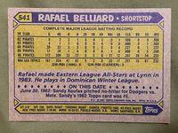 1987 topps 541 rafael belliard