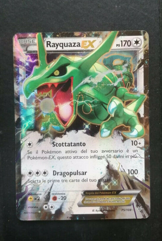 Rayquaza-EX 1x Holo Rare EX Pokemon Roaring Skies NM-LP 75//108