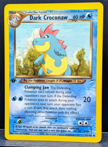 EX Dunkles Tyracroc 32//105 Pokemon Karte