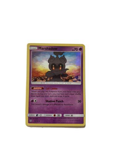 Reverse Holo Rare Pokemon Marshadow 45//73 SHINING LEGENDS NM//M