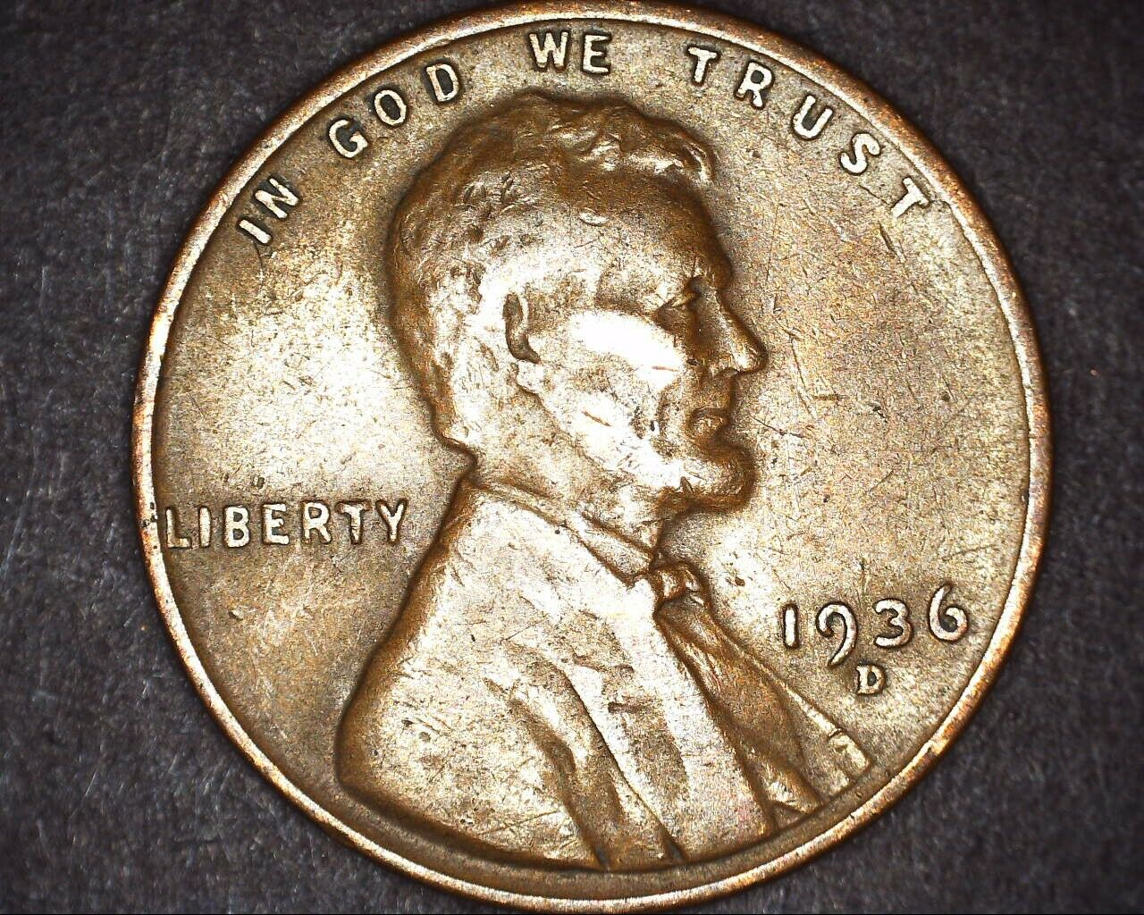 1936-P Lincoln Wheat Cent in XF EF Condition ~ $20 ORDERS SHIP FREE!