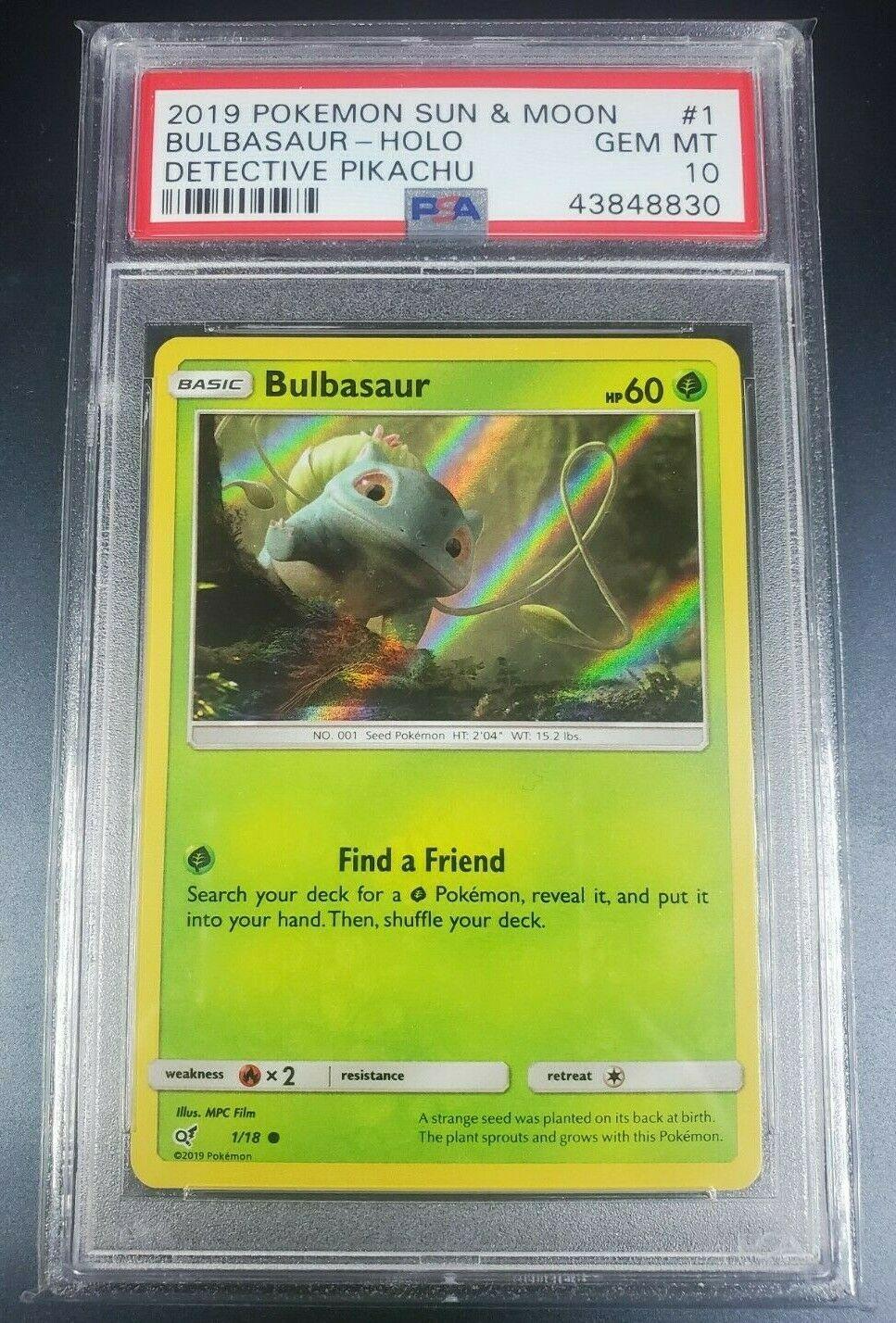 Pokemon Rare Foil Bulbasaur Detective Pikachu Set #1//18