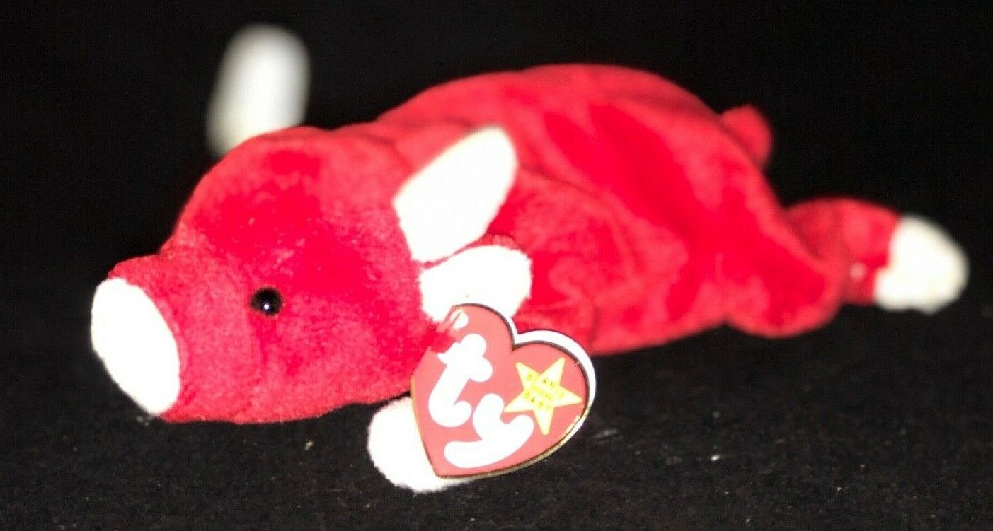 SNORT THE BULL STYLE  #4002 TY BEANIE BABY MWMTs PVC PELLETS