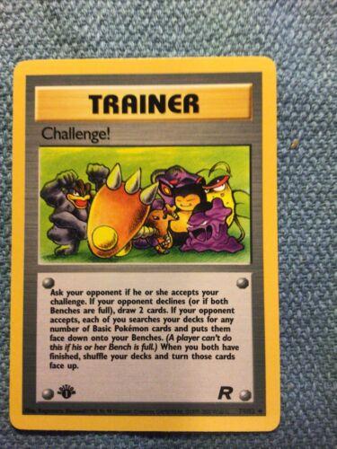 1st Edition Challenge Team Rocket Near Mint 74//82