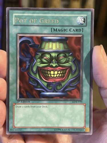 1st Edition Near Mint Starfoil Rare BP01-EN034 YuGiOh Pot of Greed
