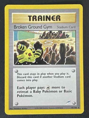 Rare 1st Edition Near Mint Neo Destiny Pokemon 92//105 Broken Ground Gym