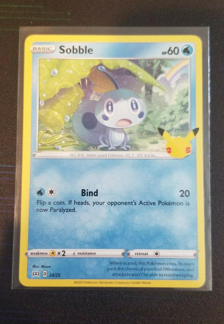 Sobble 24/25 - 25th Anniversary - Non Holo - McDonald's Pokemon Card - NM+
