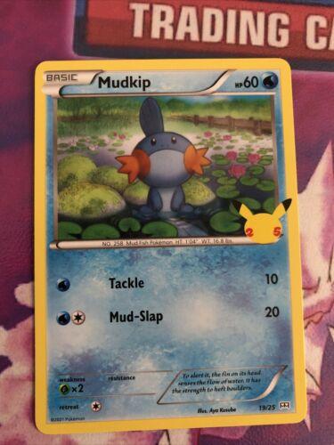 Pokemon TCG Mudkip 19/25 NON HOLO McDonald's 2021 Promo 25th Anniversary NM