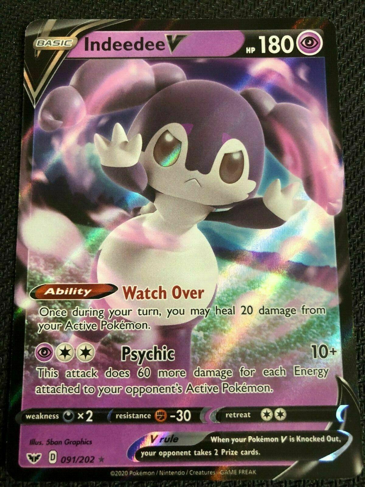 Indeedee V 091//202 Pokemon Card