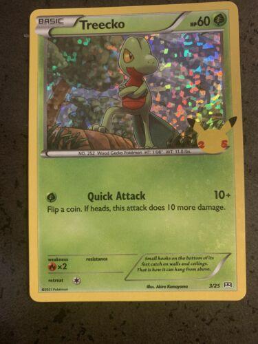Treecko 3/25 Holographic Pokemon 25th Anniversary McDonald's Promo Nm-Mint