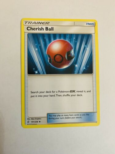 Unified Minds Sun and Moon Cherish Ball Mint Condition 191//236