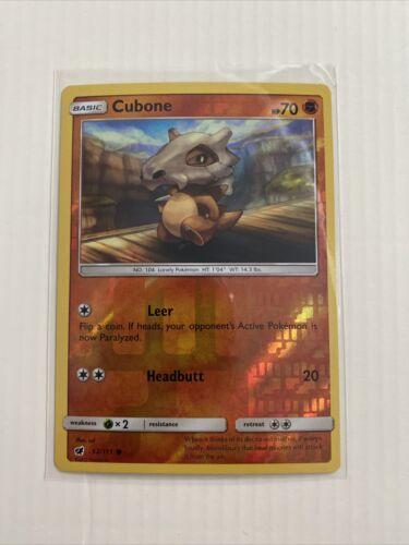 Cubone 52/111 S&M: Crimson Invasion  Reverse Holo  Mint/NM  Pokemon - Image 1