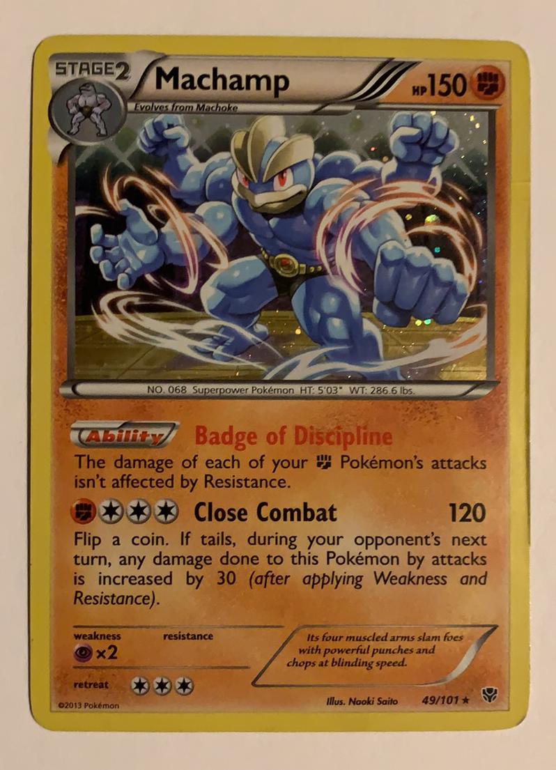 Machamp Plasma Blast 49//101 Holo Rare LP Pokemon Card mint pack fresh ship fast