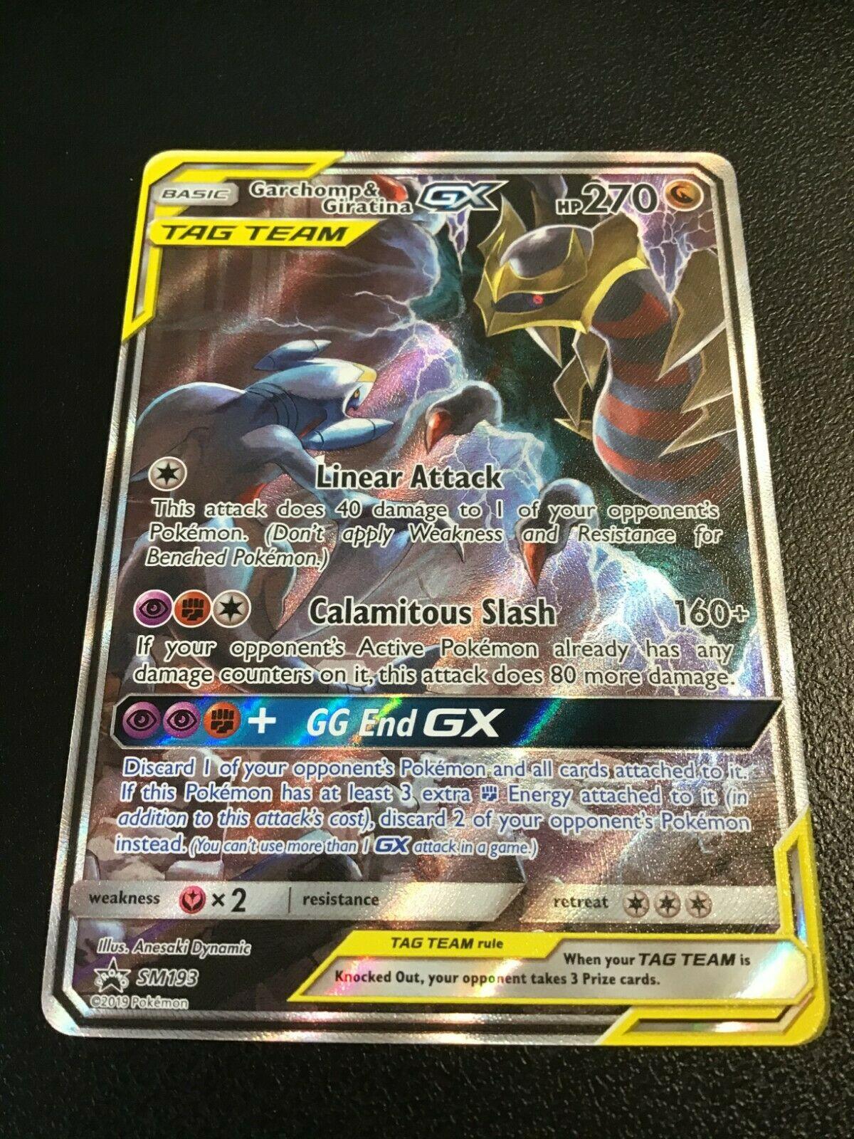 Garchomp /& Giratina SM193 Black Star Promo Pokemon Card NM-MINT