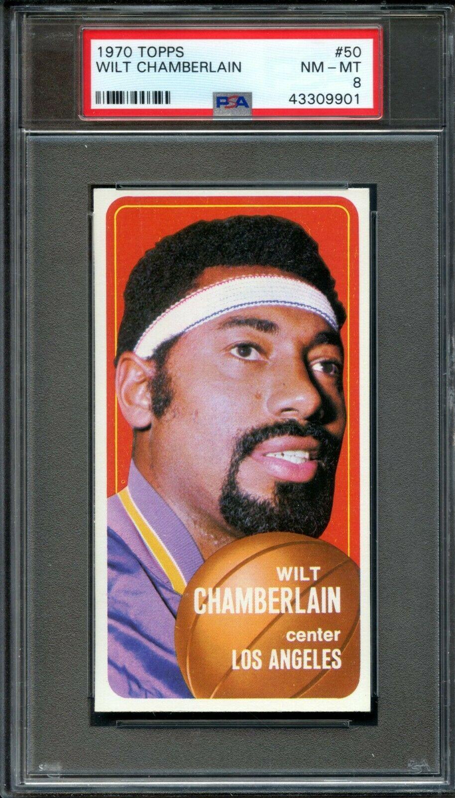 1970 Topps #50 Wilt Chamberlain PSA 8 Centered Los Angeles Lakers - Image 1