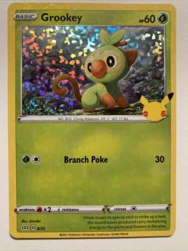 Pokemon Holo McDonald's 25th Anniversary Grookey 8/25