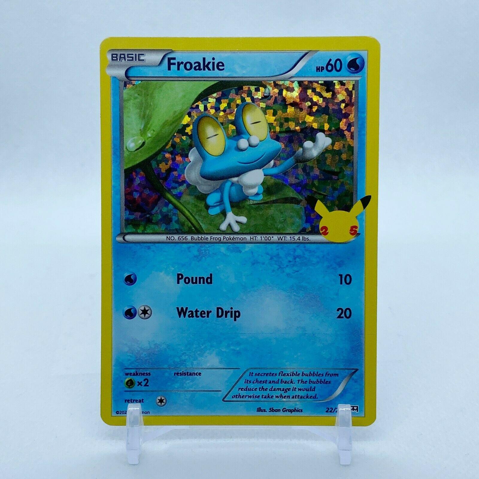 Froakie - 22/25 Mcdonald's Promo 25th Anniversary Holo Starter Pokemon - NM/MINT