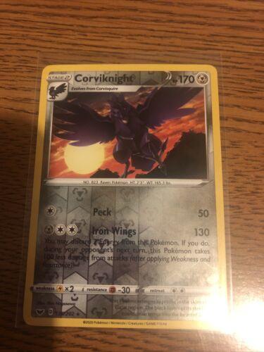 x1 Corviknight - 135/202 - Rare - Reverse Holo Pokemon SS01 Sword & Shield Base  - Image 1