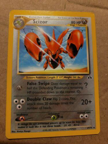 Pokemon Scizor - 29/75 - Neo Destiny Discovery Genesis Revelation Non-Holo Rare - Image 1