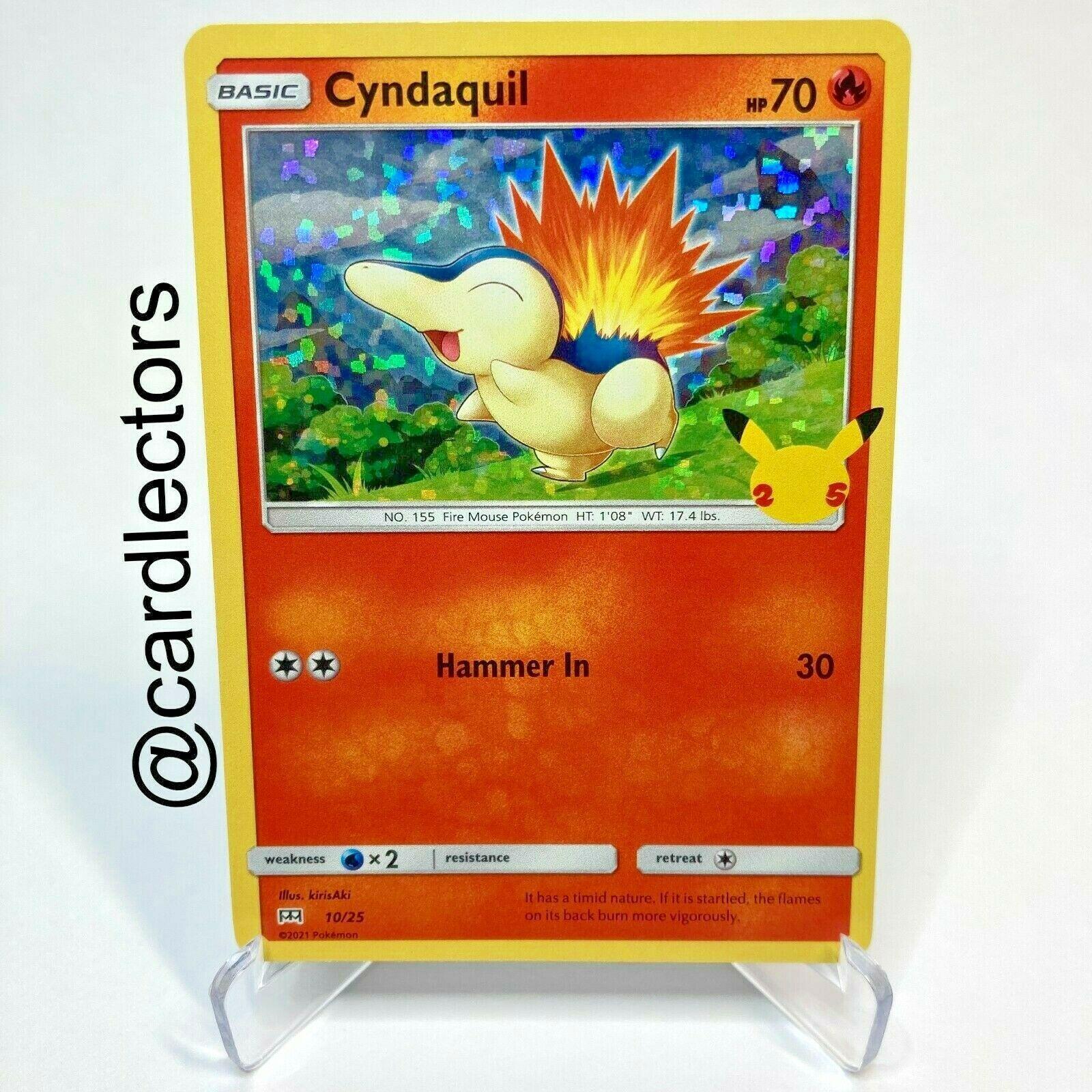 Pokemon TCG Cyndaquil HOLO 10/25 25th Anniversary McDonald's 2021 Promo Card
