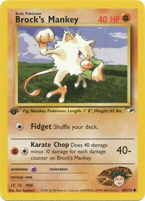 Details about  /MANKEY ~ TEAM ROCKET  Pokemon Card