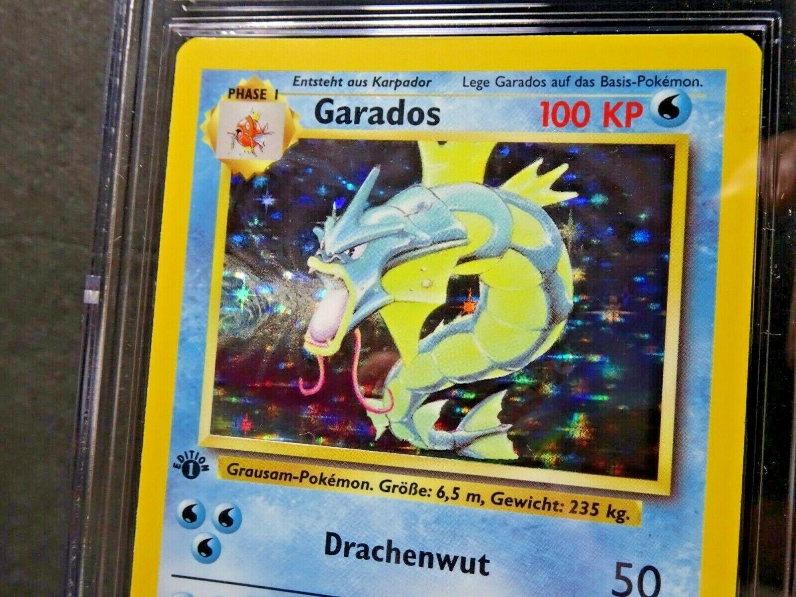 1999 GERMAN GYARADOS GARADOS Base Set 1ST EDITION Holo Rare Pokemon 6/102 CGC 9 - Image 2