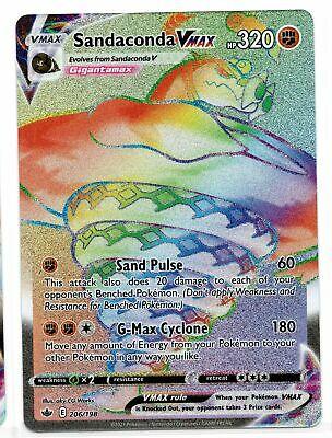 Pokemon Sandaconda VMAX 206/198 Secret Rare Chilling Reign NEW IN-HAND