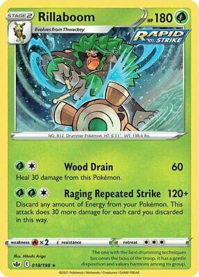 x1 Rillaboom - 018/198 - Holo Rare Pokemon SS06 Chilling Reign M/NM