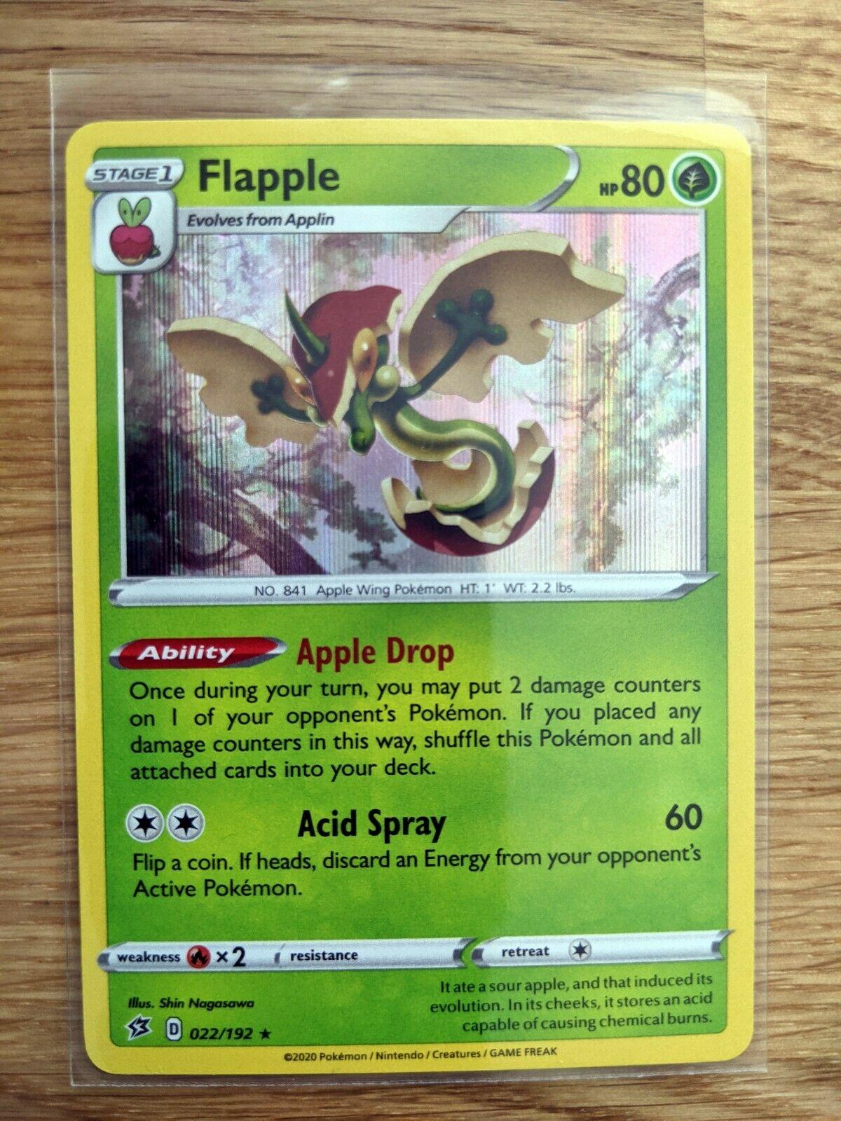 SWSH REBEL CLASH FLAPPLE 022//192 RARE HOLO Pokemon