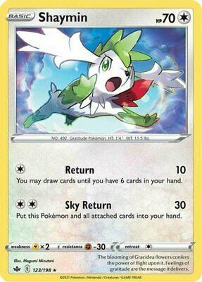 x1 Shaymin - 123/198 - Holo Rare Pokemon SS06 Chilling Reign M/NM