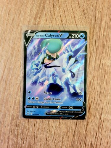 Pokemon Chilling Reign Ice Rider Calyrex V 045/198 Ultra Rare NM - Image 1