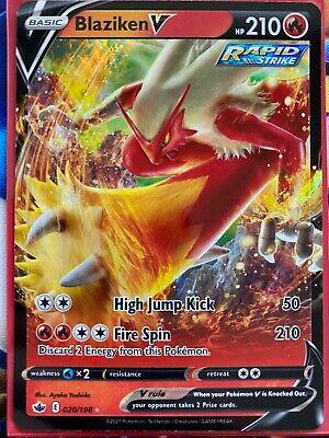 Pokemon Card   BLAZIKEN V   Ultra Rare  020/198  CHILLING REIGN  *MINT*