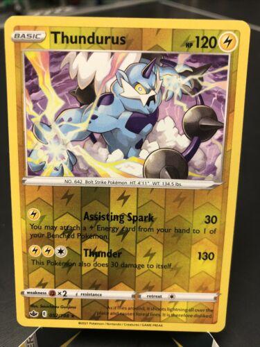 Pokemon TCG Chilling Reign Reverse Holo Thundurus 052/198 NM-M