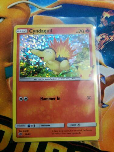 Pokemon Cyndaquil Holo - McDonald's 2021 Promo 25th Anniversary - 10/25 - NM