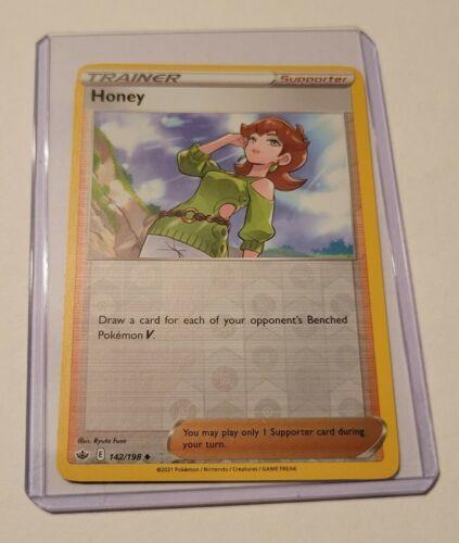 Pokemon TCG Trading Card Game Chilling Reign Trainer Honey Reverse Holo 142/198 - Image 1