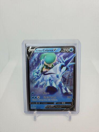 Pokemon TCG Ice Rider Calyrex V 045/198 Ultra Rare Chilling Reign NM/Mint! - Image 1