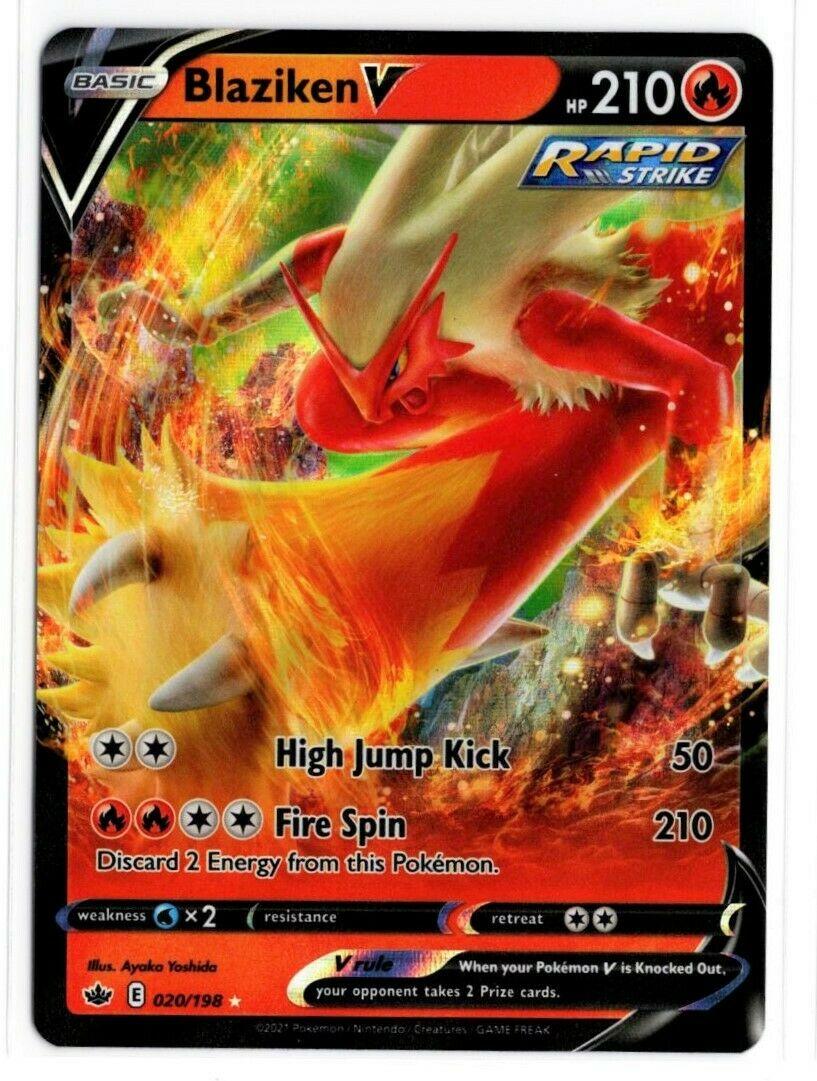 Pokemon TCG Chilling Reign - Blaziken V 020/198 NM/M - *Brand New*