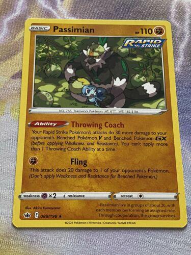 Pokemon Chilling Reign Passimian Rare 088/198 In Hand