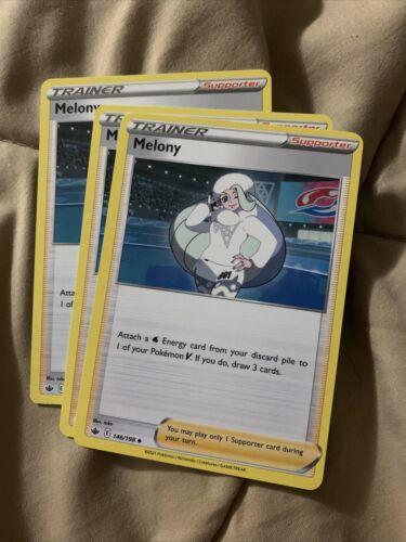 3x Melony 146/198 Non Holo Trainer Rare Pokemon Chilling Reign